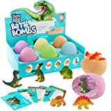 dino egg bath bombs with surprise inside for kids - dinosaur in each fizzy - easter suprise eggs -