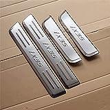 bksptop 4 piezas de acero inoxidable umbrales de la puerta del coche para Hyundai IX35 2010 2011 2012 2013, umbral de la puerta placas protector car styling Accesorios