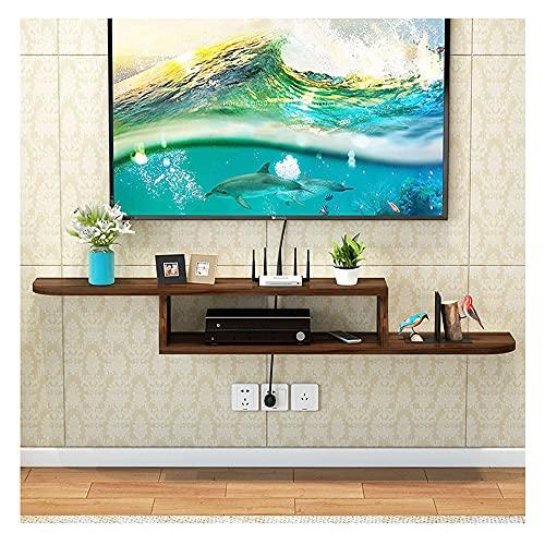 PPOIU Mueble para TV Flotante, Estante Decorativo para Montaje en Pared, Centro de Entretenimiento Multimedia, Muebles para el hogar, Ahorra Espacio/D / 150 × 20 cm