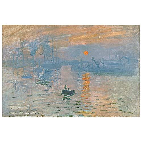 Puzzle-s, 300/500/1000 Stück, Claude Monet, weltberühmte Gemälde-Eindrucks-Sonnenaufgang, for Kinder und Erwachsene s (Size : 500pieces)
