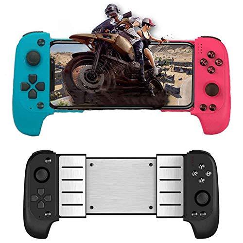 FSGD Controlador de Juegos Móvil Controlador de Teléfono Bluetooth para Android/iOS Controlador Móvil Inalámbrico Joystick Gamepad para Juegos MOBA y Fps,Azul