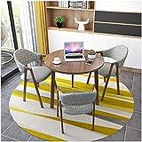 FWJT Mesa de comedor redonda y silla combinada 1 mesa y 3 sillas Simple y moderno sala de estar Cocina Conjunto de muebles de cocina Apartamento Restaurante Postre Tienda Cafetería Silla de lino de al