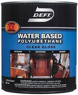 Deft Interior Exterior Water-Based Polyurethane Finish Gloss, Quart
