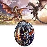 NAUXIU Lava Dragon Egg,Dream Crystal Transparent Dragon Egg Resin Sculpture,Exquisite and Unique Lava Dragon Egg Souvenir,Dinosaur Egg Resin Ornaments, Handmade Resin Sculpture Azul