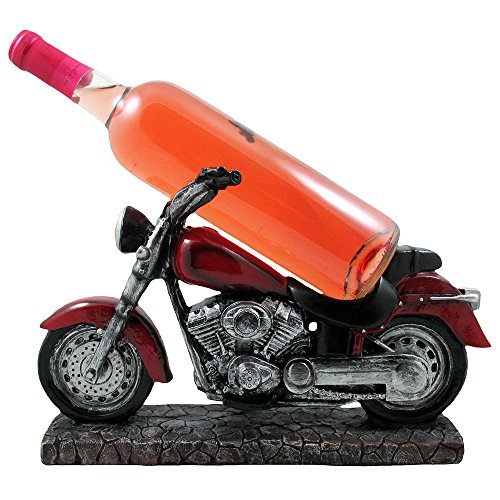 Vintage Motorcycle Wine Bottle Holder Sculpture for Classic Chopper & Cycle Model Statues As Decorative Bar or Kitchen Decor Tabletop Wine Racks & Stands and Retro Biker Gifts