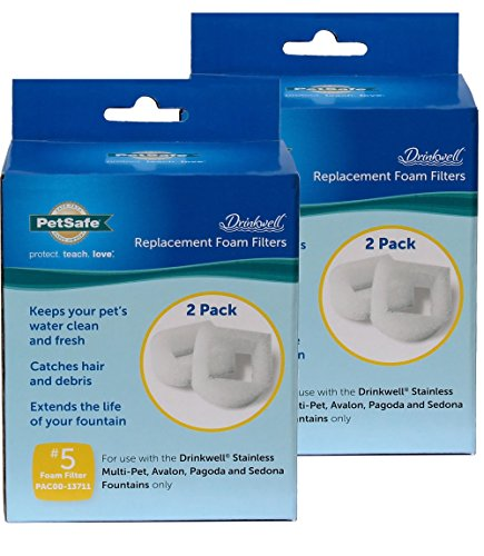 Drinkwell Replacement Foam Filter For Stainless 360, Lotus Pack Of 2 - 4 Filters Total
