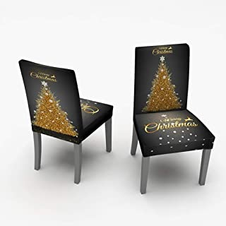 Christmas Holiday Chair Cover 2pc Home Gardenhome Textiles,Tools,Home Textiles,2pcs Chair Covers Dining Room Chair Protector Slipcovers Christmas Decoration