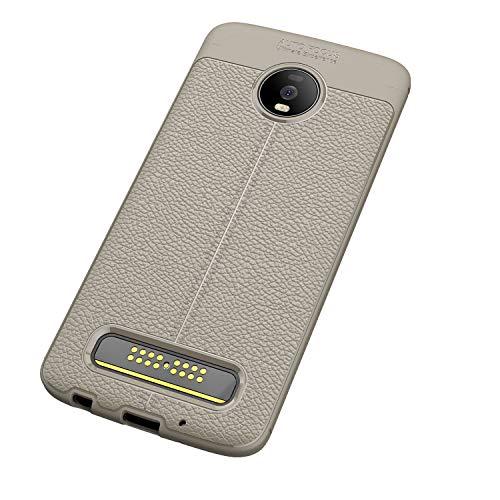 FanTings Capa para Motorola Moto Z4 Play, antiderrapante, ultrafina, absorção de choque, proteção contra arranhões, capa para Motorola Moto Z4 Play – Cinza