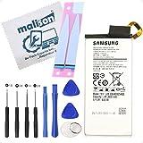 Batería para Samsung Galaxy S6 Edge   SM-G925F   EB-BG925ABE   Batería de repuesto   Incluye paño de limpieza de pantalla   Batería con tiras adhesivas y juego de herramientas