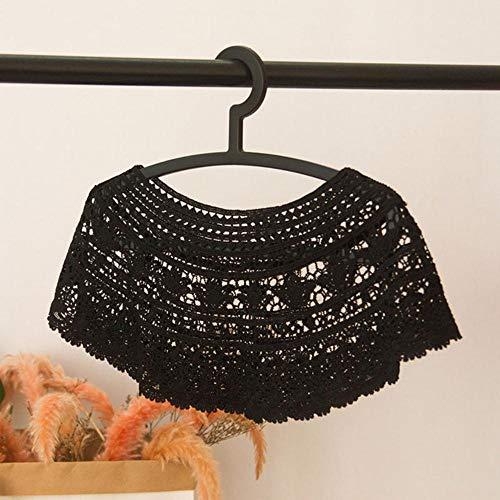 Gras uitgehold kanten kraag jurk applique blouse naaien versieringen vest diy kant stof kledingstuk rok decor accessoires kanten kraag, zwart