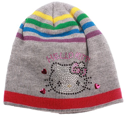 Bonnet multicouleur fille Hello kitty Gris T54 (6/9ans)