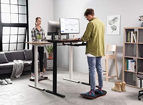 Product Image 5: FEZIBO Standing Desk Anti Fatigue Mat Wooden Wobble Balance Board Stability Rocker with Ergonomic Design Comfort Floor Mat (Medium, Obsidian Black)