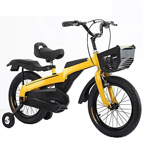 YUMEIGE Kinderfietsen Kids 14 16 18 Inch Wiel Bike, Kinderfiets Sprak Wiel, kinderen Fietsmeisje en Jongen, (leeftijd 3 tot 9 jaar) Blauw, Rood, Geel 16in Geel