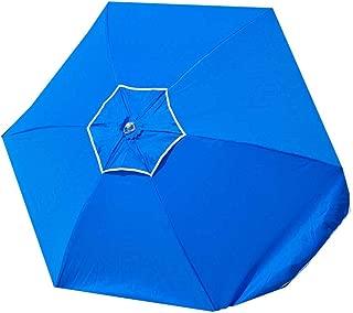 7.5 ft Frankford 50 UPF Wood Beach Umbrella - Olefin Fabric with Carry Bag