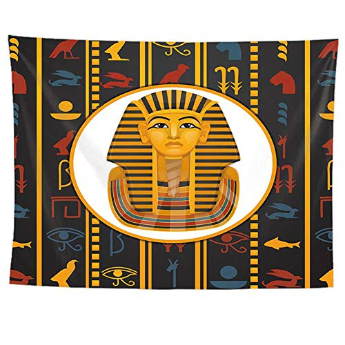 Kinntn Wandtapijt, natuur, modern, Bohemian, hippie kop, Pharaon, picknick, strand, blad, bedlaken, sprei, yoga, woonkamer, slaapkamer, slaapkamer, decoratie 150x200cm