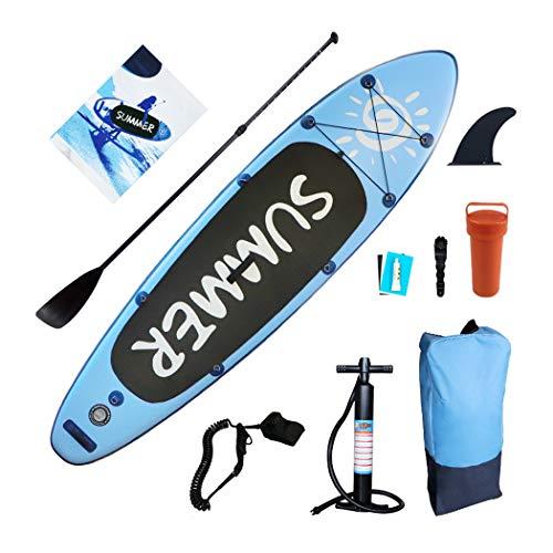 ZZZYZ Aufblasbares Stand Up Paddleboards Anfänger Paddle Board SUP für Erwachsene Wakeboard für Damen Herren Jugendliche Stehboot Paddel Rucksack für Allround-Touring