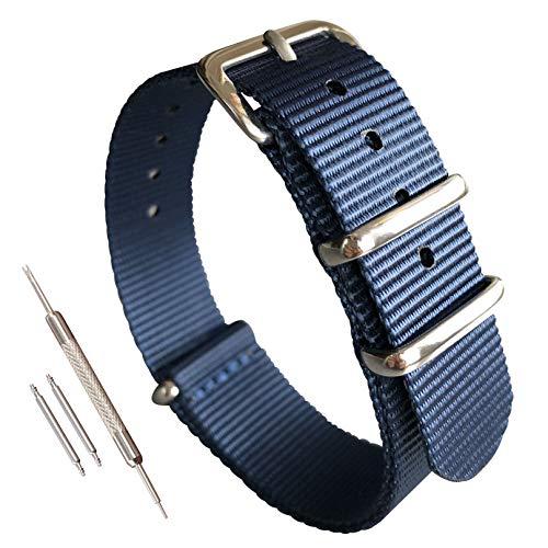 MZBUTIQ - Correa de repuesto para reloj de nailon (10 12 13 14 15 16 17 18 19 20 21 22 mm)