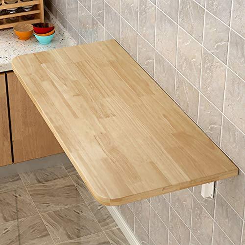 Warooma Holzklappbarer Wand-Computertisch, zusammenklappbarer Studientisch/Computertisch/Notebook-Tisch/Kindertisch/Heimtisch