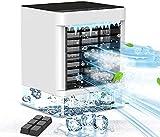 Mini Refrigeratore d'aria Yemetey, Refrigeratore d'aria USB, Mini Condizionatore Portatile, 3 in 1 Ventilatore/Umidificatore/Condizionatore, per Ufficio, Casa, Scrivanie, Stanze