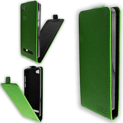 caseroxx Flip Cover für Archos 45b Neon, Tasche (Flip Cover in grün)