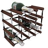 Acero galvanizado RTA/16-térmica para Botella de Vino en Madera de Caoba de Pino para, marrón