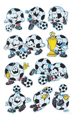 AVERY Zweckform 53155 Kinder Sticker Fußball Gesichter (3D Effekt) 10 Aufkleber