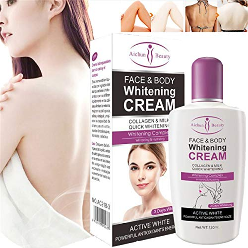 GARYOB Natural Whitening Cream, Körpercreme für dunkle Hautaufhellende Körperlotion, Whitening Pinkish Bleaching Cream