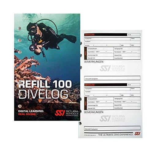 SSI Logbuch-Einlagen Platinum für 100 Tauchgänge