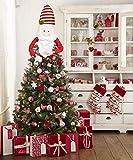 Unico Topper albero di Natale - Questo topper albero di Natale carino ma non tradizionale è un modo perfetto per completare il tuo albero. Il design divertente e unico aggiunge gioia e tocco creativo al tuo arredamento durante le festività natalizie ...