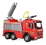 Lena GIGA Trucks 02158 - Camión de Bomberos (66 cm, 3 Ejes, depósito de 1,5 litros y cañón de Agua de hasta 8 m), Color Rojo