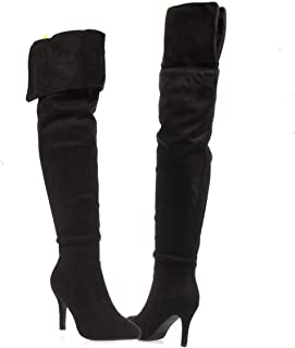 fbfa46e939ab V-Luxury Womens 32-ALEXIA82 Pointed Toe Over The Knee Thigh High Stiletto  Slouchy