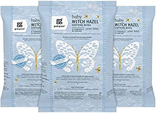 Grab Green Natural Baby Witch Hazel Soothing Wipes, Soothe Common Skin Irritations Such as Diaper Rash, No Alcohol, Plant-Based & Biodegradable, Dreamy Rosewood—with Essential Oils, 32 Wipes (3 Pack)