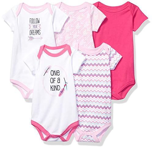 Hudson Baby Unisex Cotton Bodysuits, One Of A Kind, 3-6 Months