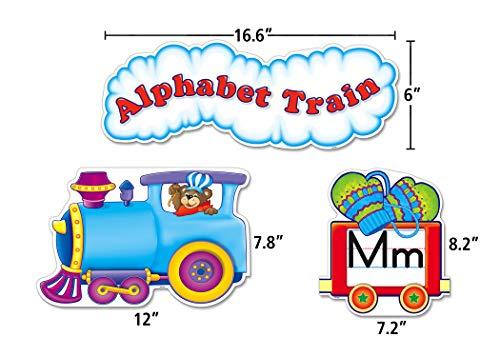 Teacher Created Resources Alphabet Train Bulletin Board Display Set (4421),Multi Color Photo #3