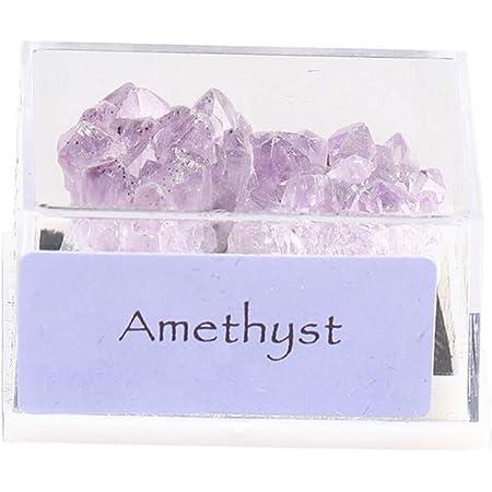 DIYARTS Mineral mineral mineral de cristal natural mineral mineral mezclado para enseñar piedra decoración del hogar coleccionable (grupo de amatista)