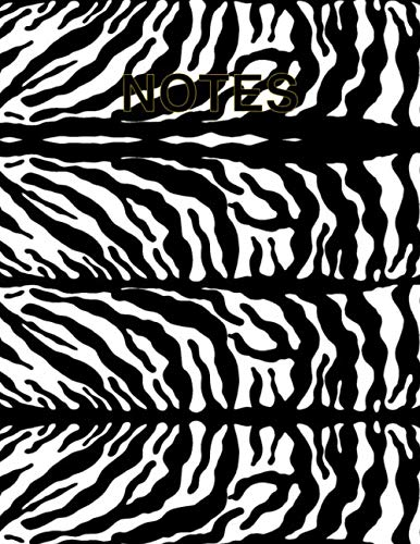 Cute Zebra Animal Print Notebook By Nabila Ibrahim: Large Composition Colourful College Ruled