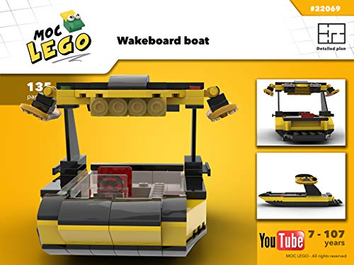 WakeBoard Boat (Instruction Only): MOC LEGO (English Edition)