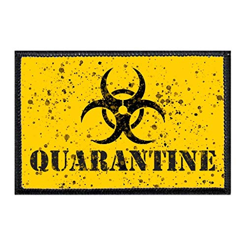Quarantine | Hook and Loop Attach for Hats, Jeans, Vest, Coat | 2x3 in | by Pull Patch