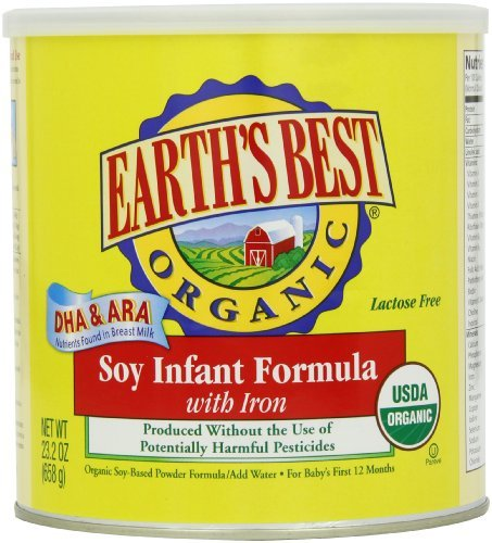 Earth's Best Organic Soy Infant Formula with Iron, ARA, & DHA, 23.2- Ounce Can Kids, Infant, Child, Baby Products bébé, nourrisson, enfant, jouet