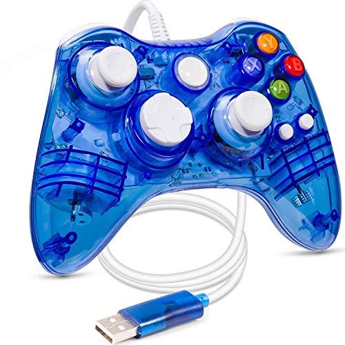 Xbox 360 Wired Controlador, USB Wired Xbox 360 Controlador Gamepad Palanca De Mando Consolas, Con Doble Motor De Vibración Turbo, Adecuado Para Xbox 360, Xbox 360 Slim, PC Windows XP / Vista / Win7 /