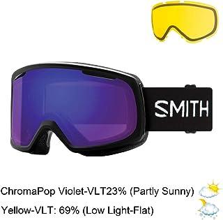 Smith Snow Goggle RO2CPVBK19 Unisex Black Naylon Frame Sun Platinum Chromapop Violet Mirror Polarized Sunglasses