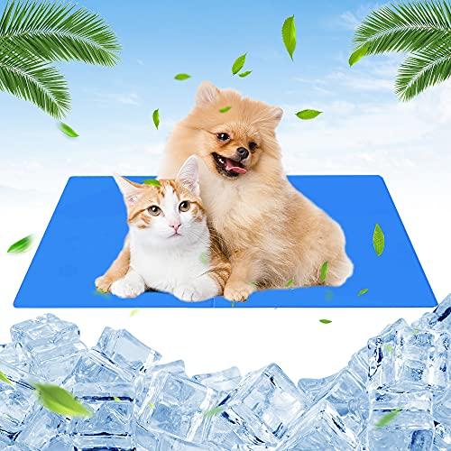 ASANMU Haustier Kühlmatte für Hunde, 65 x 50 cm Kühlmatte für Hunde und Katzen Kühl Hundedecke Selbstkühlende Kissen für Hunde Kühlkissen Kühl Geschenk für Hunde und Katzen Cooling Matte für Zwinger