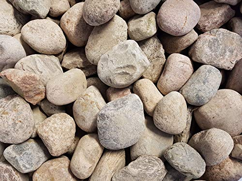 Der Naturstein Garten 25 kg Flusskiesel Granit Kiesel 8-20 cm - Kieselsteine Flußkiesel Gletscherkiesel Kies Zierkies Gabionensteine - Lieferung KOSTENLOS