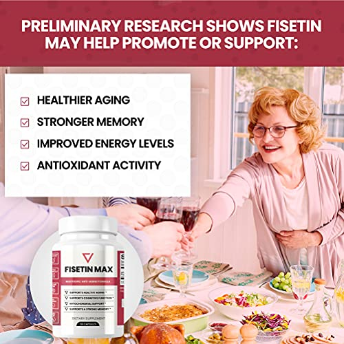 51fugAUPBUS. SL500  - Fisetin Max | Nootropic Anti-Aging Supplement - Doctor Approved Antioxidant Support for Healthy Aging, Better Brain Health, Improved Energy Levels, and Maintaining Strong Memory* - 30-Day Supply