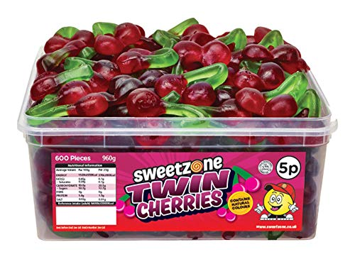 SweetZone 100% Halal Twin Cherries Candy ohne Schweinegelatine 1kg