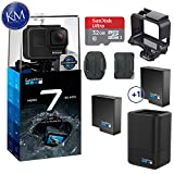GoPro Hero 7 (Black) Action Camera w/Dual Battery Charger and Extra Battery...