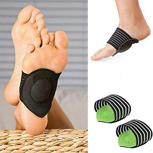 Arch Support Pad Orthotic Shoe Insert for Flat Foot Pain Plantar Fasciitis PTTD Arch Flatfoot Orthotics Massage Pad Insoles Foot Sleeves