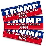 Anley 22 X 7 cm Pegatina Trump 2020 - Coche y Camión Pegatina Reflectiva para Parachoques - Elecciones Presidenciales Estados Unidos 2020 (Paquete de 3)