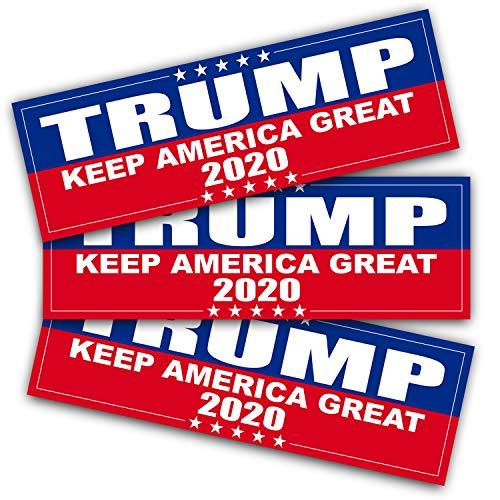 Anley 9 x 3 Zoll Trumpf 2020 Aufkleber - Auto und LKW reflektierende Stoßstange Aufkleber - 2020 Vereinigte Staaten Präsidentschaftswahl (3er Pack)