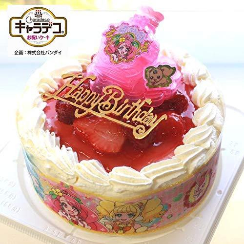 バースデー/ヒーリングっど・プリキュア2020・キャラデコお祝いケーキ・生クリーム苺デコレーションケーキ5号(バースデーオーナメント・キャンドル6本付き)
